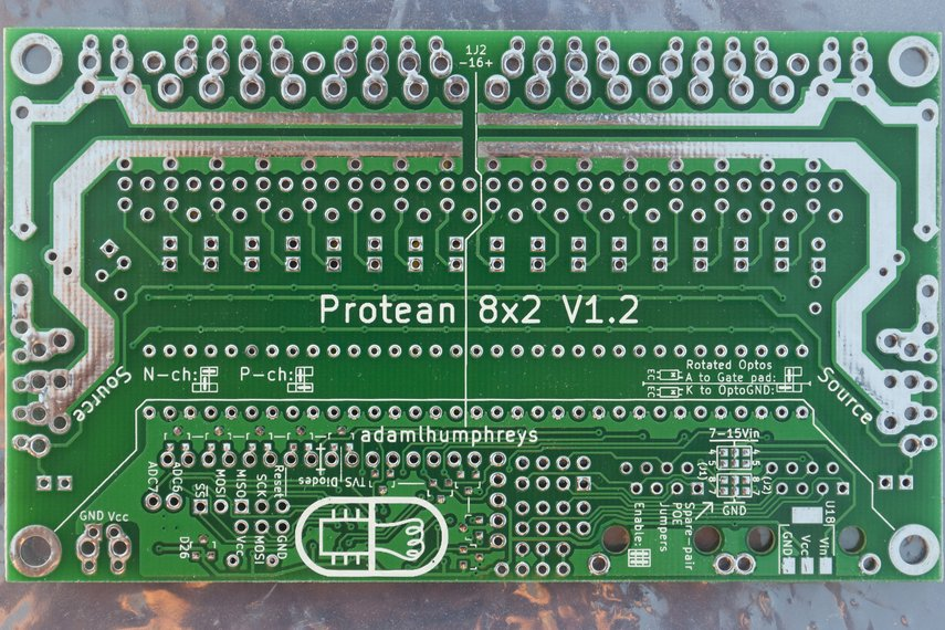 Protean 8x2 V1.2: 16-Ch FET Power Control w/ RS485